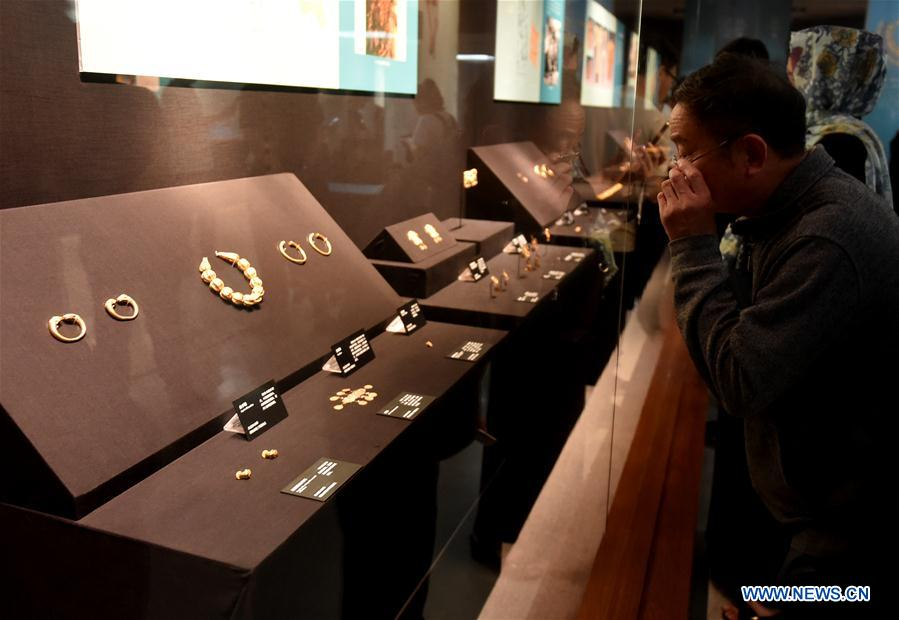 Afghan cultural relics on display in C. China