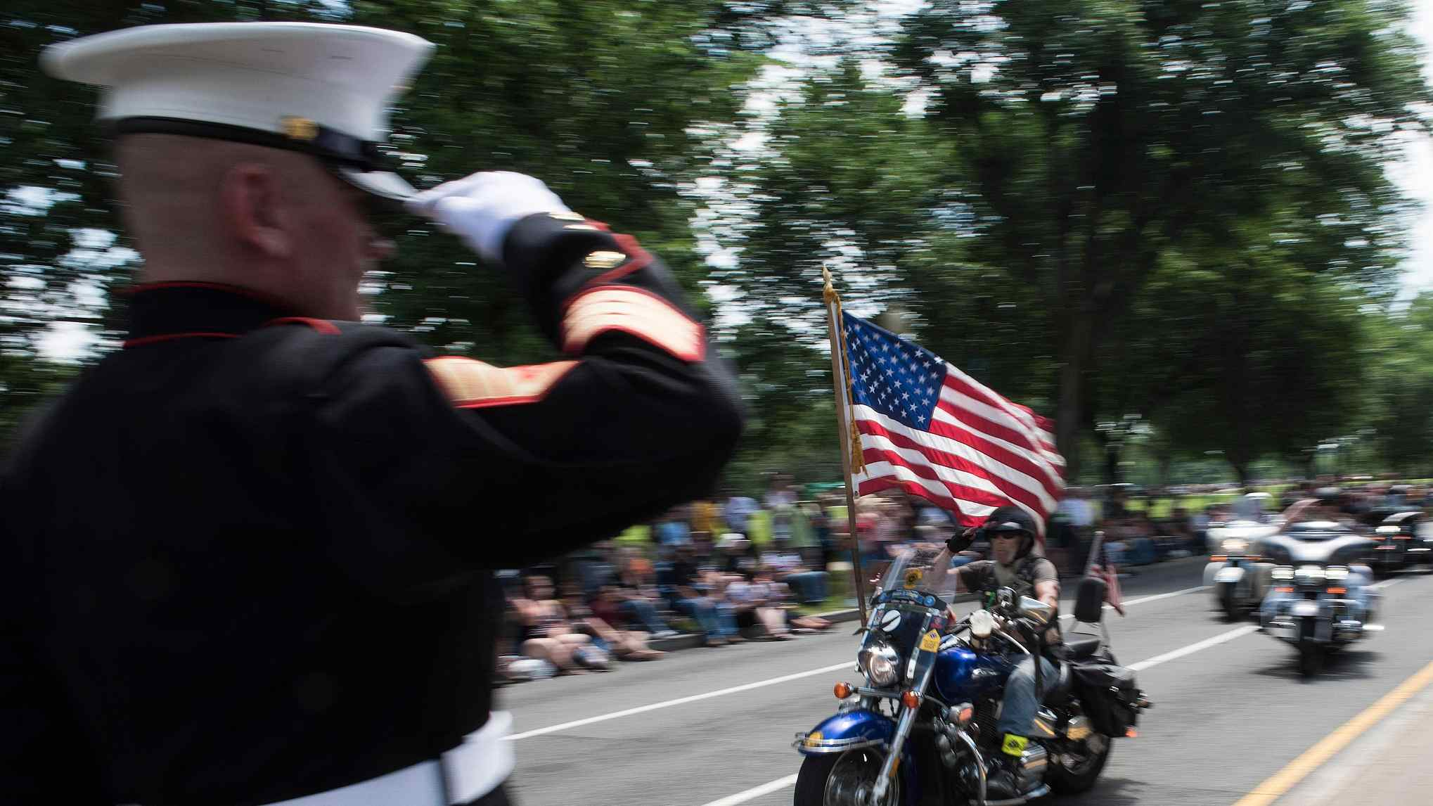 """""""Rolling Thunder Ride for Freedom"""" motorcycle parade held in Washington, DC."""