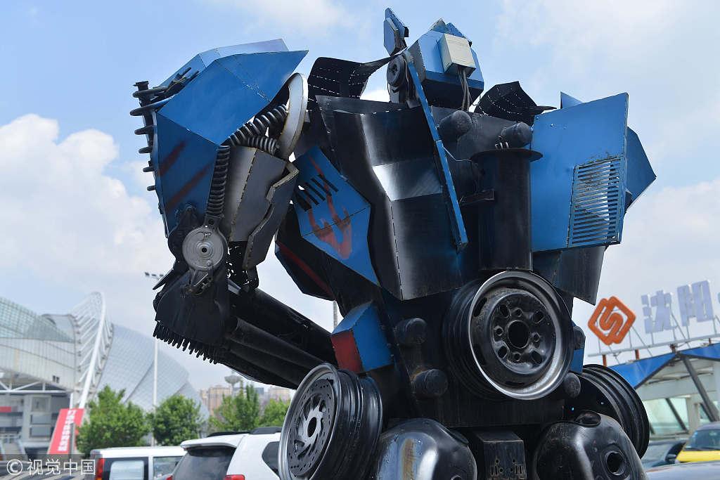 "Transformer ""parking lot attendant"" in Shenyang"