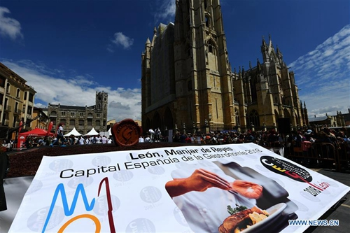 Spanish city sets new Guinness record of biggest salted dry beef plate