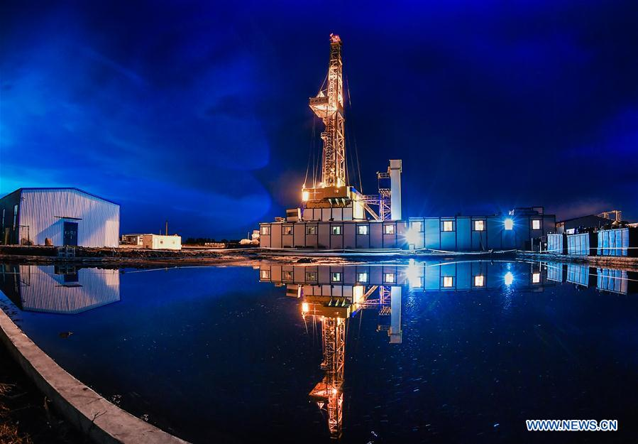 China's drilling rig completes 1st mission