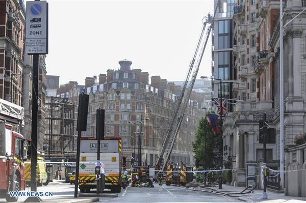 120 firefighters battling massive fire in London