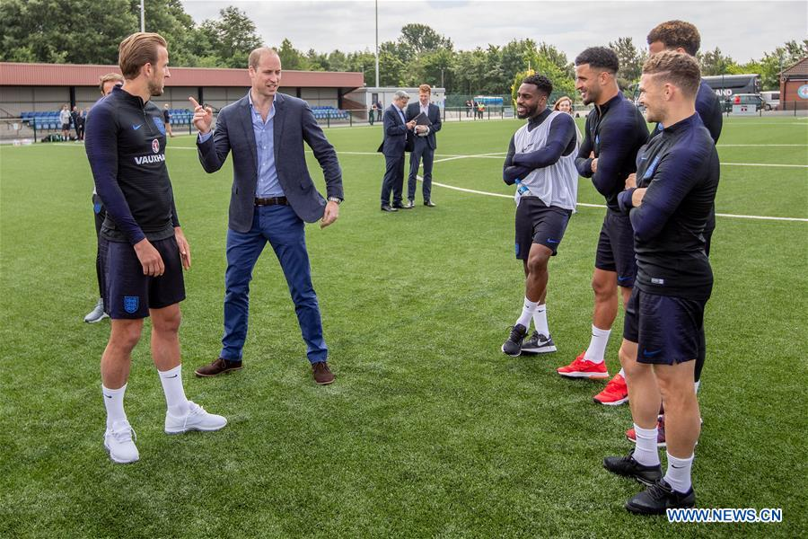 Prince William meets England Football squad in Leeds, Britain