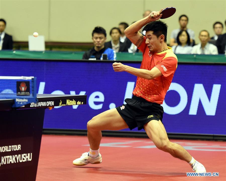 Japan's Harimoto stuns China's Zhang Jike to win Japan Open final