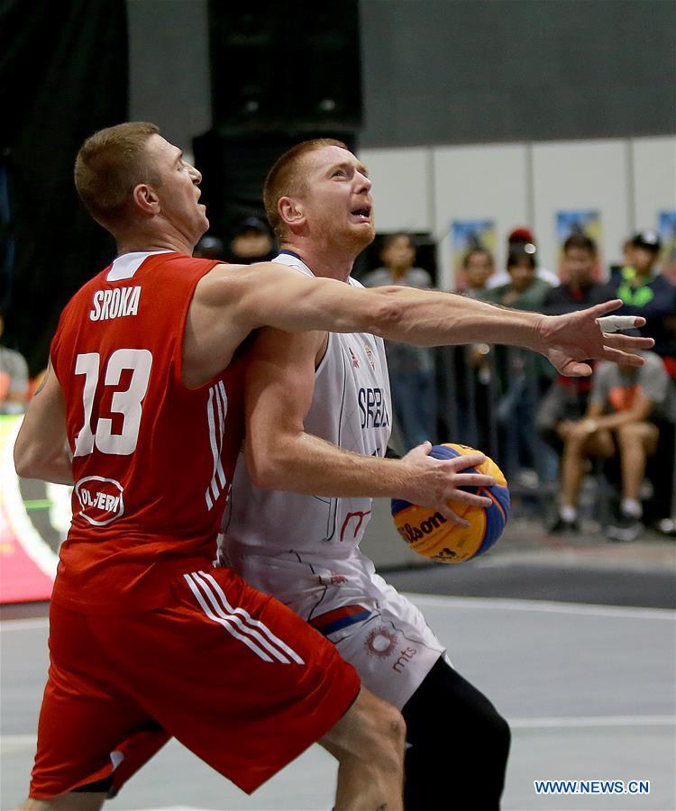 Serbia beats Poland 21-19 at men's semifinal match at FIBA 3x3 World Cup
