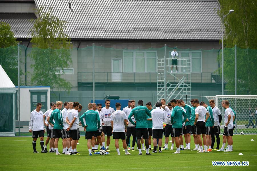 Germany's players attend training session ahead of 2018 Russia World Cup