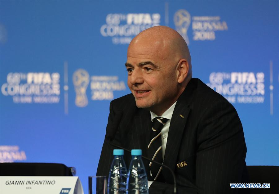 Press conference after 68th FIFA Congress held in Moscow, Russia