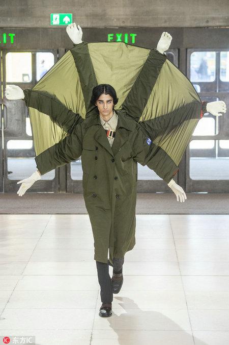 Chinese designer's future fancies at London Men's Fashion Week