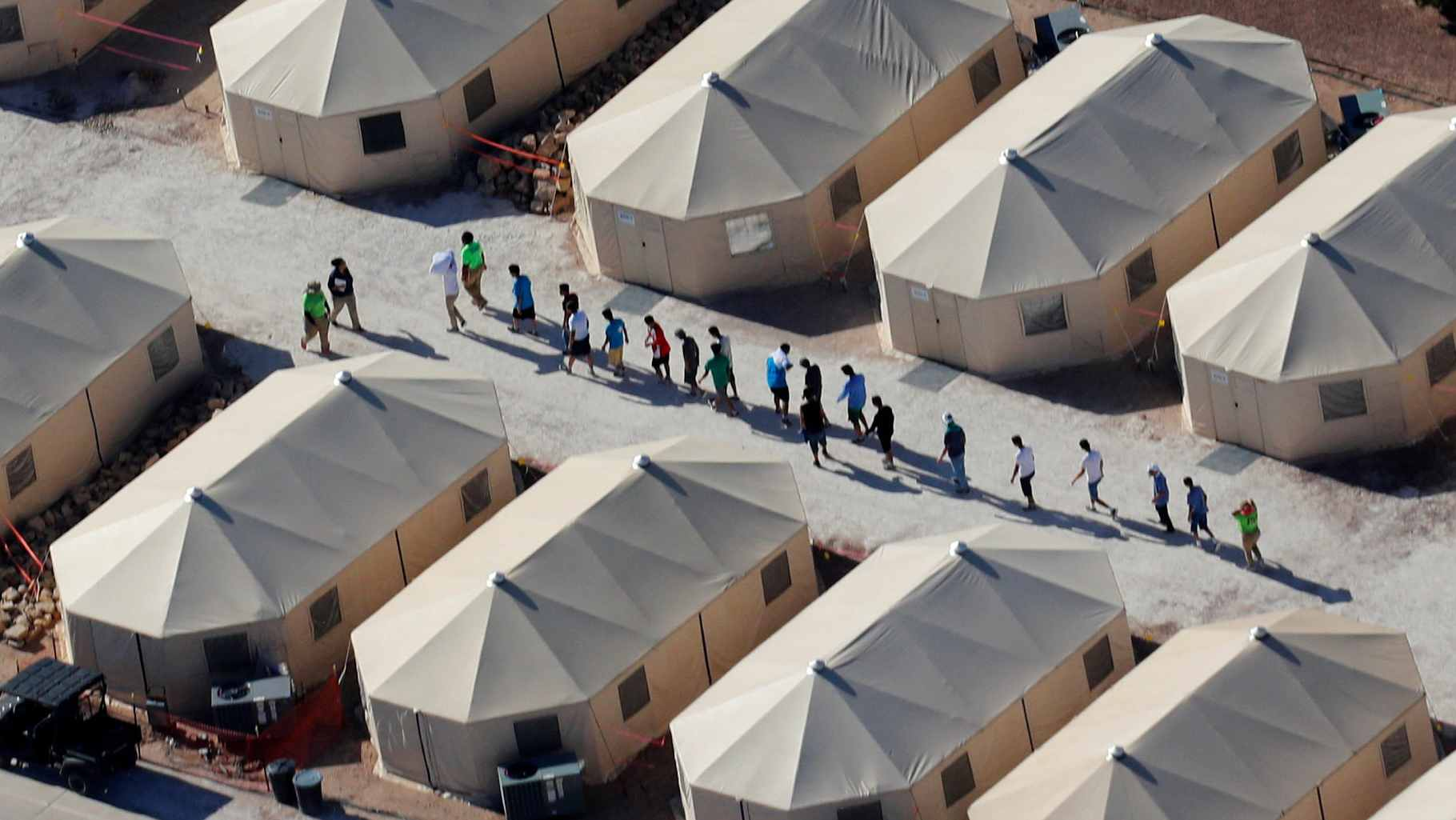 'Tent City' in Texas houses immigrant children separated from parents