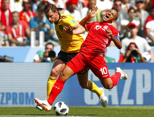 Belgium displays its depth in a World Cup rout of Tunisia