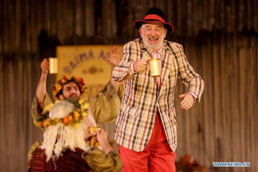 """Aristophanes' comedy """"Archanians"""" performed in Epidaurus Festival, Greece"""