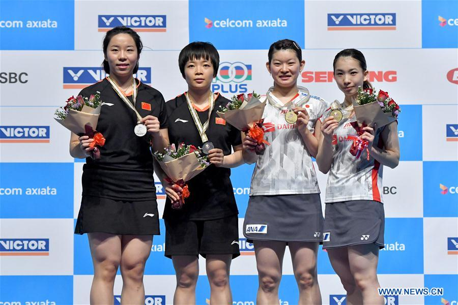 Japan claims title of women's doubles final at Malaysia Open 2018