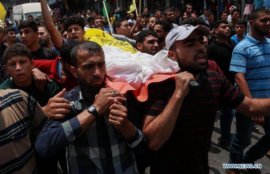 Funeral held for Palestinian boy killed by Israeli troops at Gaza-Israel border
