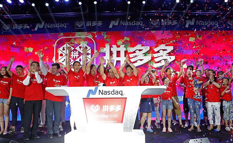 Pinduoduo shares soar on debut