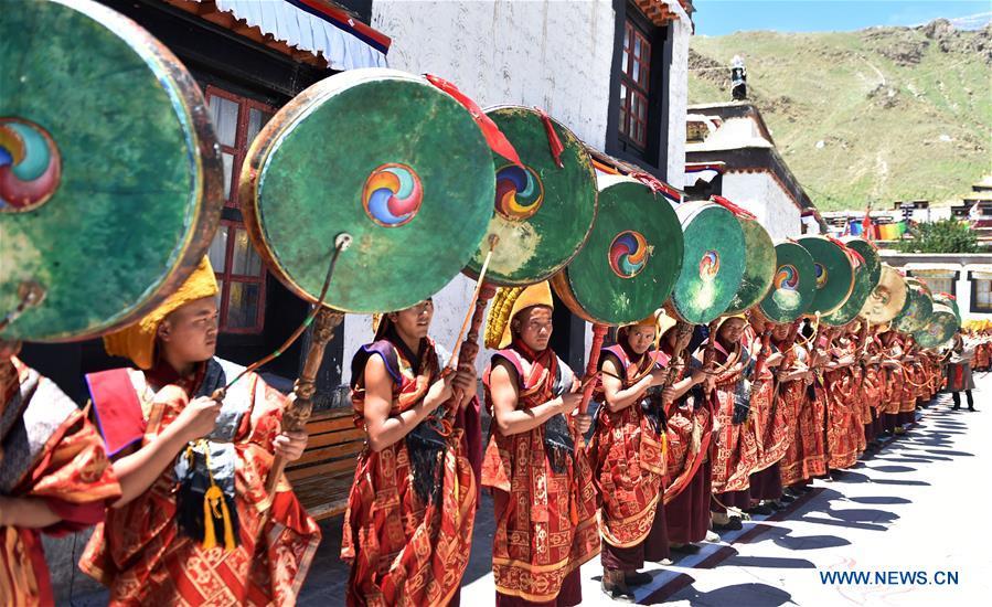 Panchen Lama returns to Tashilumpo Monastery in Xigaze, China's Tibet