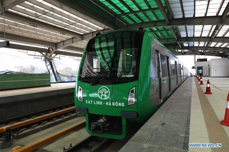 China-constructed urban railway in Vietnam starts final test runs