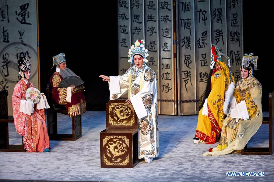 Chinese actors perform during Shakespeare Festival 2018 in Denmark