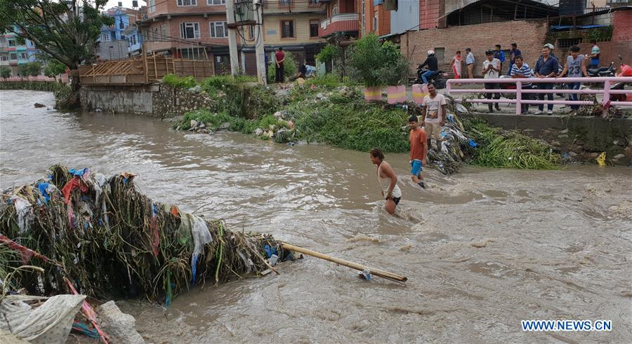 Many areas in Nepal inundated due to swollen rivers following torrential rains