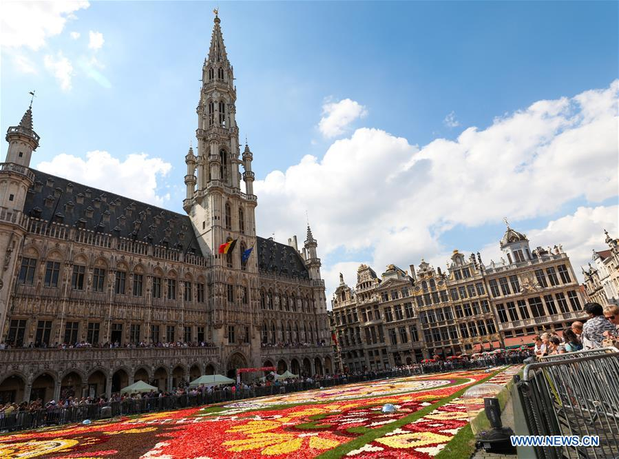 Flower Carpet 2018 held at Grand Place in Brussels