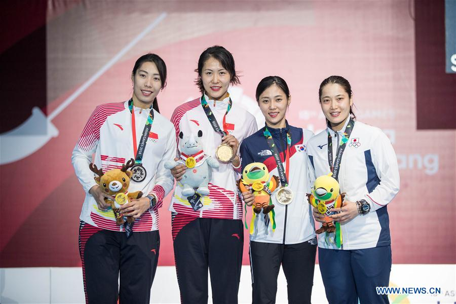 Chinese fencers dominate women's individual sabre at Asiad