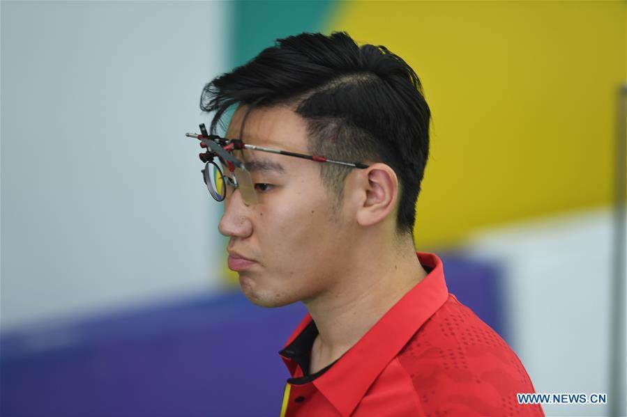 Men's 10m Air Pistol final held at 18th Asian Games in Palembang, Indonesia