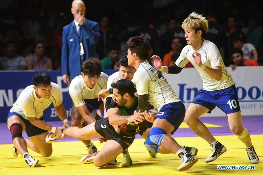 Iran beats South Korea 26-16 during kabaddi men's team final at Asiad