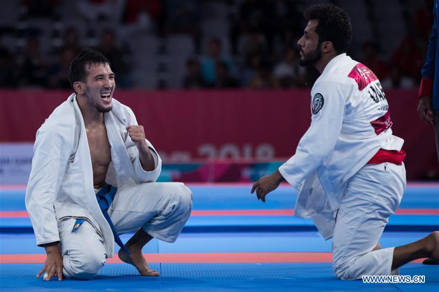 Torokan Bagynbai Uulu wins Ju-Jitsu Newaza Men's -69 kg at 18th Asian Games