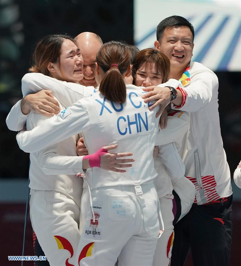 China claims title at Women's Epee Team final in 18th Asian Games