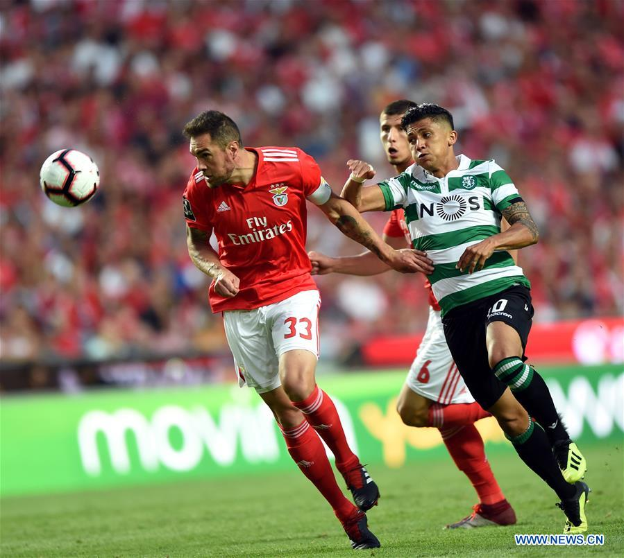 SL Benfica ties with Sporting CP in Portuguese League soccer match