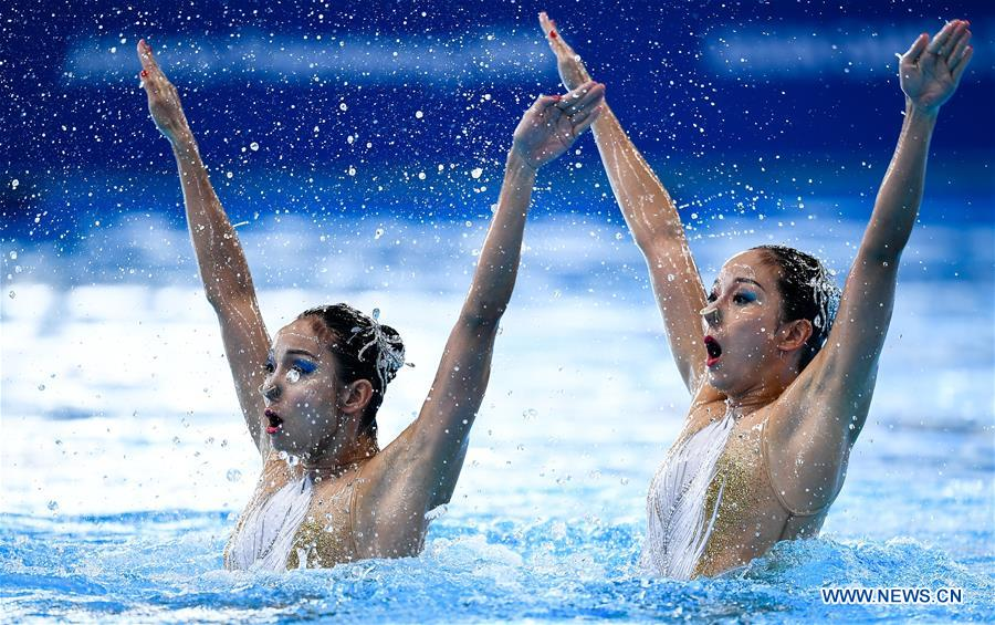 Artistic Swimming Women's Duets contest held at 18th Asian Games