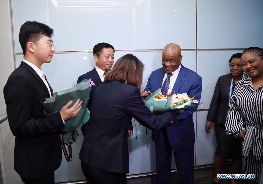 Lesotho's PM arrives in Beijing for FOCAC