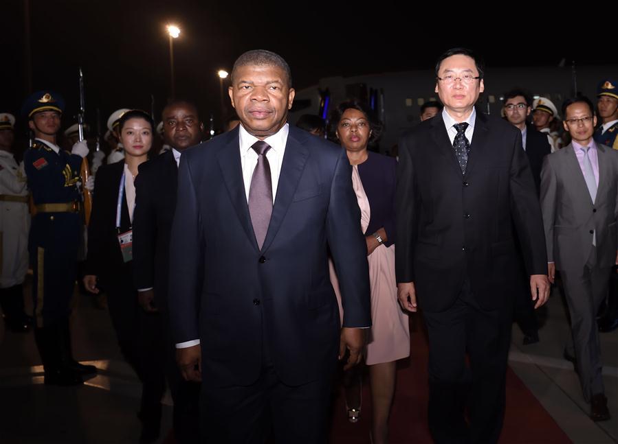 Angolan president arrives in Beijing for FOCAC