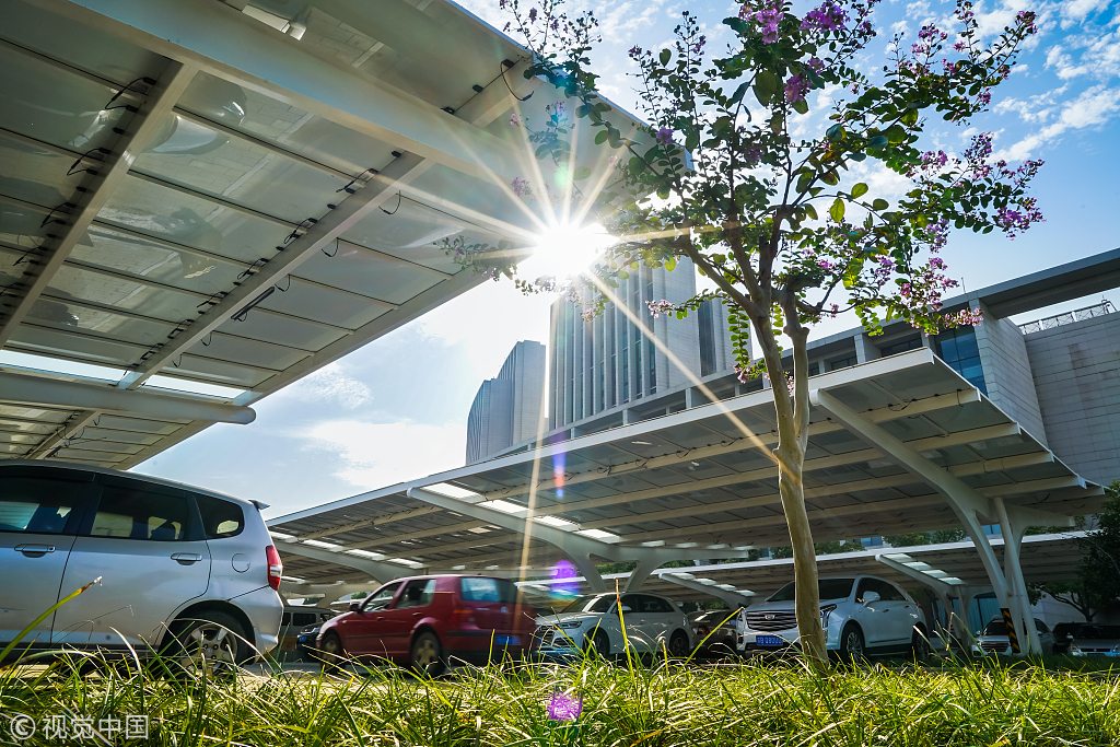 Solar-powered parking lot opens in Wuxi