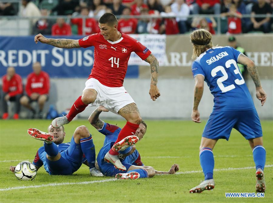 Switzerland beats Iceland 6-0 at UEFA Nations League group A2 match