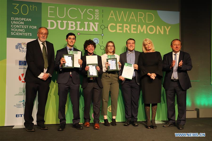 Awarding ceremony of EUCYS held in Dublin, Ireland