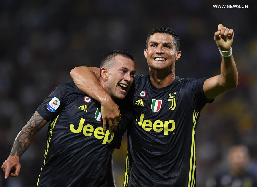 FC Juventus beats Frosinone during Serie A soccer match