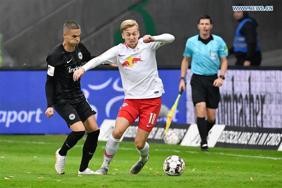 RB Leipzig ties with Eintracht Frankfurt during Bundesliga match