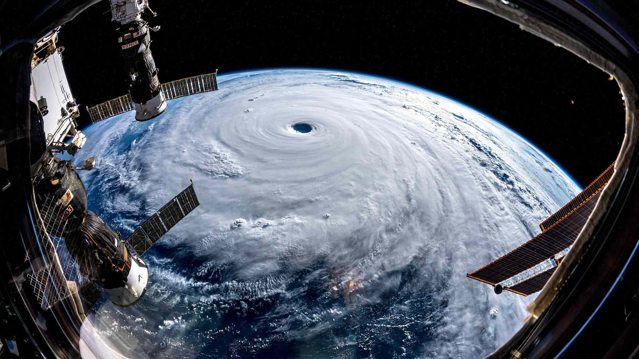 Super Typhoon Trami from space