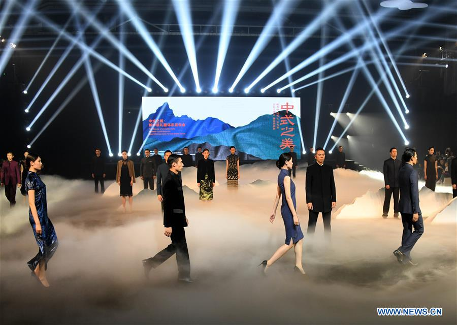"""Fashion show themed as """"the beauty of Chinese style"""" held in China's Qingdao"""