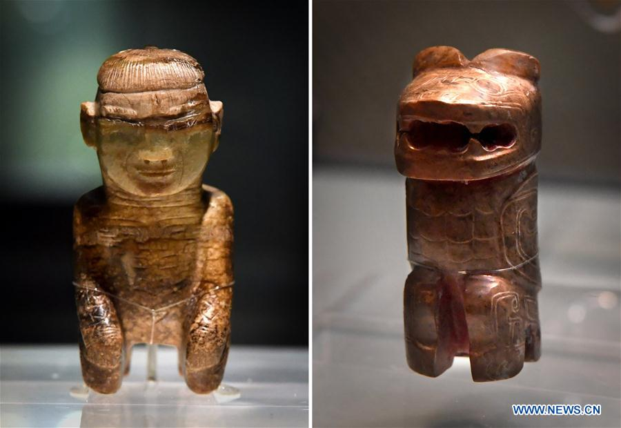 Cultural relics from Shang Dynasty displayed at exhibition in China's Henan