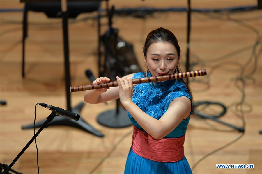 Shanghai Chinese Orchestra holds concert in Mexico City, Mexico