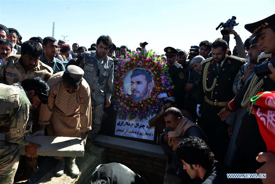 Funeral held for police chief killed in shooting during Afghan-NATO-led forces security meeting