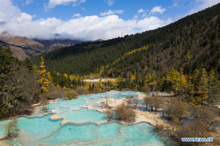 Scenery of Huanglong Scenic and Historic Interest Area in SW China's Sichuan