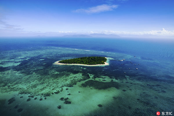 The Great Barrier Reef in Australia. [Photo: Imagine China]