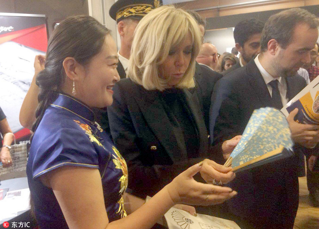 Suzhou folding fans win praises from France's first lady