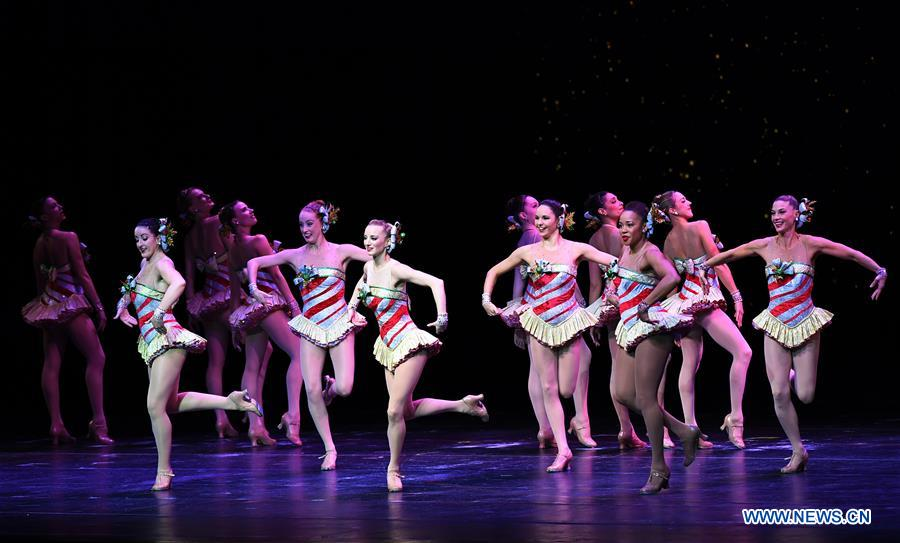 The Rockettes perform during 2018 production of Christmas Spectacular show in New York