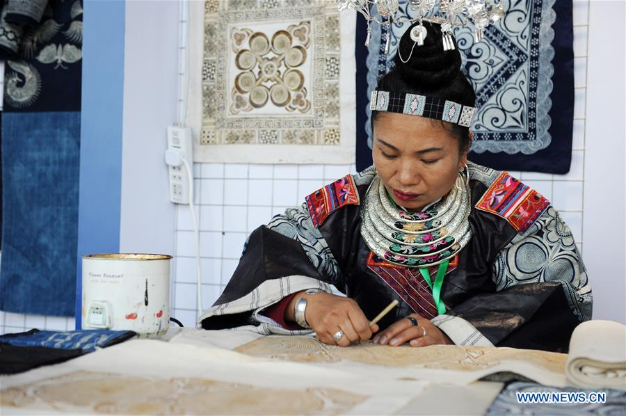 2018 China Int'l Folk Crafts and Cultural Products Expo kicks off in Guiyang, SW China's Guizhou