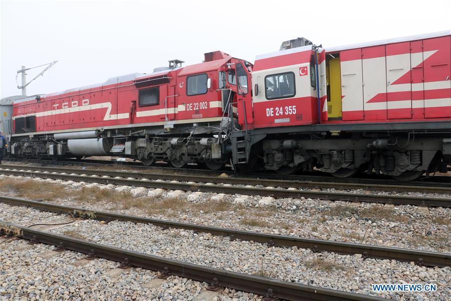 15 injured in train collision in Turkey's Sivas
