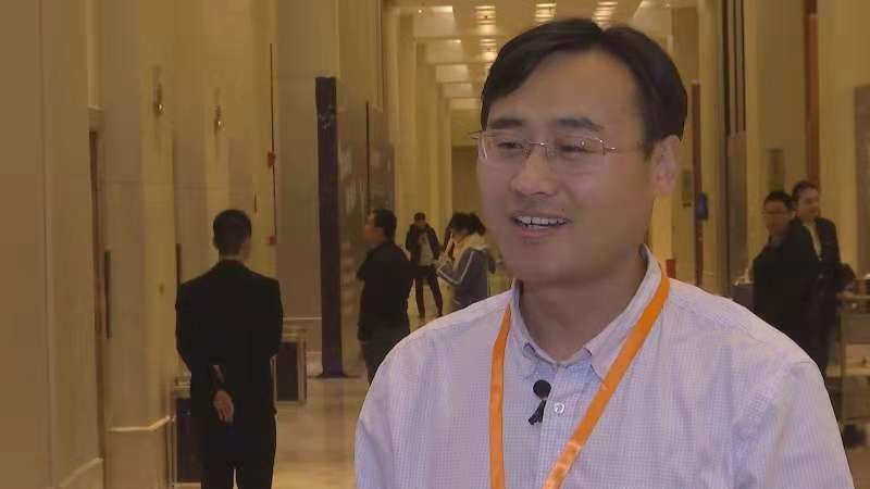 CGTN speaks to Ma Siwei, a professor at the School of EE &CS at Peking University at the 6th China Internet Audio & Video Convention in Chengdu.[Photo:CGTN]
