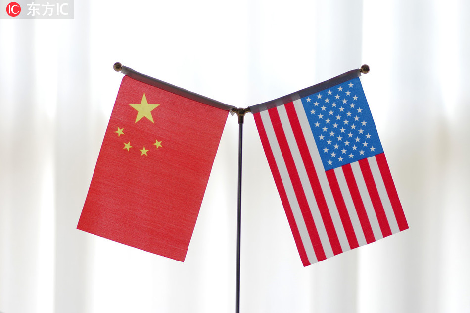 National flags of China and America. [Photo:IC]